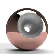 Copper Chrome Splice Orb Urns