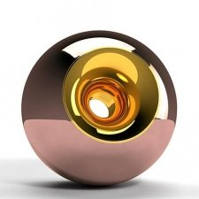 Copper Gold Orb Urns
