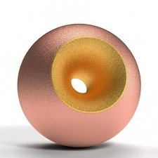 Copper Gold Sand Orb Urns
