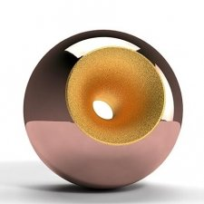 Copper Gold Splice Orb Urns