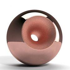 Copper Modern Sphere Pet Urn