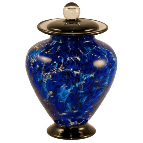 Coral Blue Child Cremation Urn