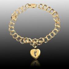 Corazon 14k Gold Cremation Print Bracelet