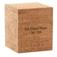 Cork Wood Cremation Urn