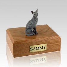 Cornish Rex Blue Large Cat Cremation Urn