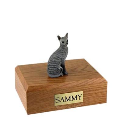 Cornish Rex Blue Medium Cat Cremation Urn