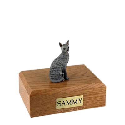 Cornish Rex Blue Small Cat Cremation Urn