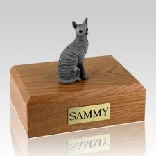Cornish Rex Blue Cat Cremation Urns