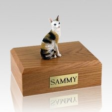 Cornish Rex Tort Large Cat Cremation Urn