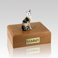 Cornish Rex Tort Medium Cat Cremation Urn