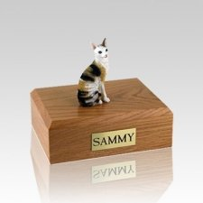 Cornish Rex Tort Small Cat Cremation Urn