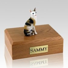 Cornish Rex Tort X-Large Cat Cremation Urn