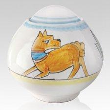 Correre Ceramic Dog Urn