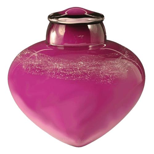Cosmic Glass Cremation Urn