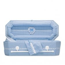 Country Blue Small Child Casket