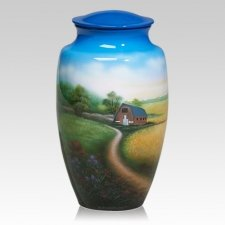 Country Metal Cremation Urn