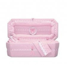 Country Pink Mini Child Casket