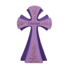 Courage Gem Cross Remembrance Sign