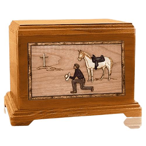 Cowboy Mahogany Hampton Cremation Urn