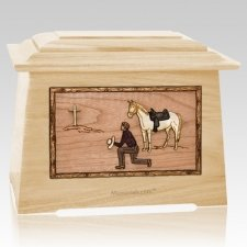 Cowboy Maple Aristocrat Cremation Urn