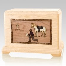 Cowboy Maple Hampton Cremation Urn