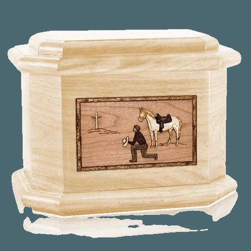 Cowboy Maple Octagon Cremation Urn