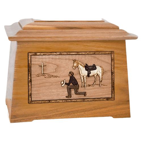 Cowboy Oak Aristocrat Cremation Urn