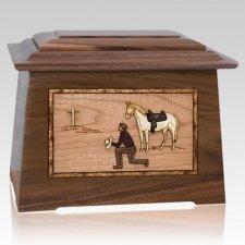 Cowboy Walnut Aristocrat Cremation Urn