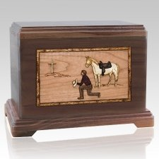 Cowboy Cremation Urns for Two