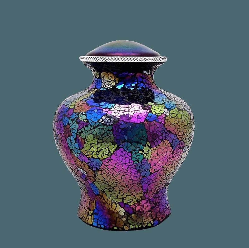 Rainbow Glass Cremation Urn