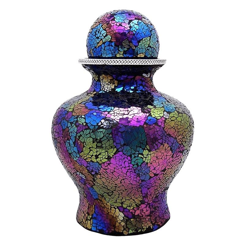 Dappled Glass Cremation Urn