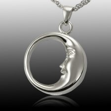 Crescent Moon Cremation Pendant III