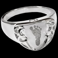 Crest Cremation Print Rings