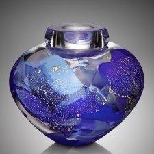 Crest Glass Cremation Urn