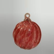 Crimson Glass Cremation Ornament