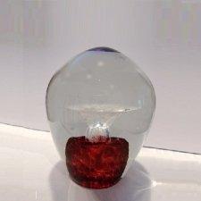 Crimson Geyser Small Glass Cremation Keepsake