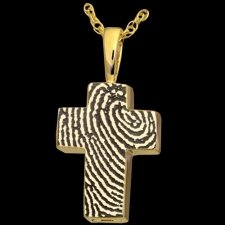 Cross 14k Gold Cremation Print Keepsake