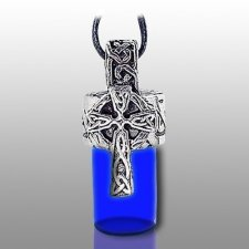 Cross Pet Blue Keepsake Necklace