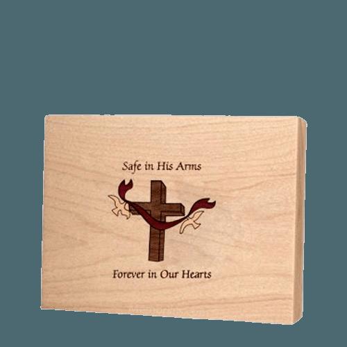 Cross Children Keepsake Wood Urn
