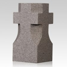 Steel Gray Cross Granite Vase