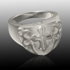 Cross Shield Cremation Ring III