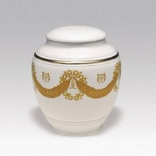 Crown Porcelain Cremation Urn