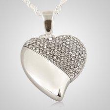 Crystal Heart Keepsake Pendant