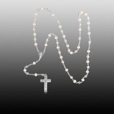 Pearl Silver Cremation Rosary
