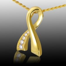 Crystal Ribbon Cremation Pendant IV