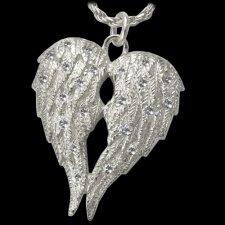 Crystal Wings Cremation Pendant III
