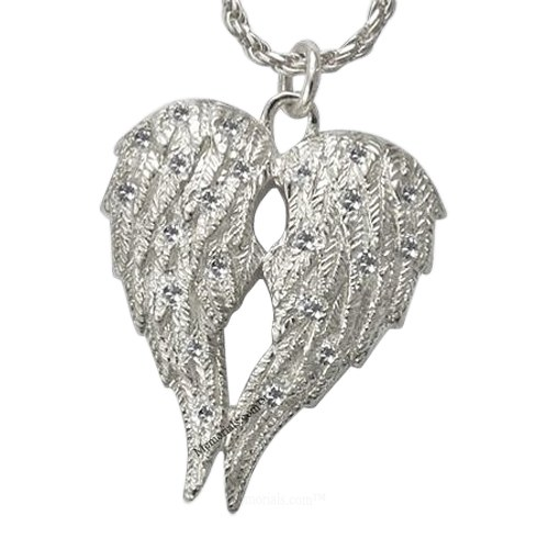 Crystal Wings Cremation Pendant III