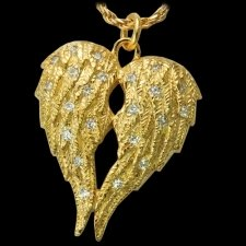 Crystal Wings Cremation Pendant IV