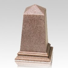 Rose Obelisk Cultured Granite Pet Cremation Urn