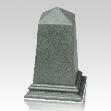 Green Obelisk Cultured Granite Pet Cremation Urn